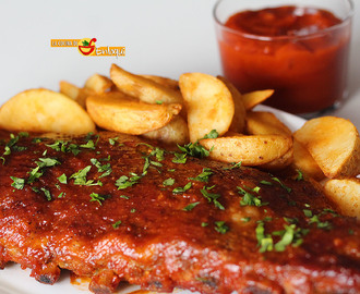 Costillas a la barbacoa estilo Foster's Hollywood