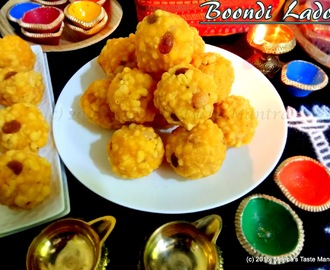 Boondi Ladoo - A South Indian Diwali Special Sweet!