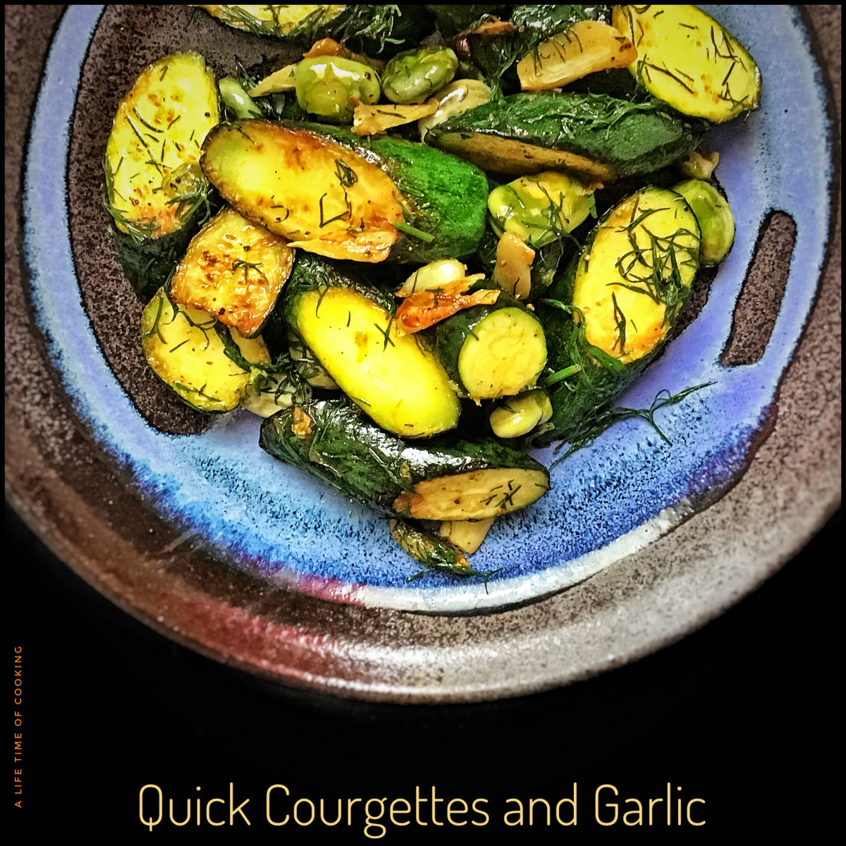 Quick Courgettes and Garlic