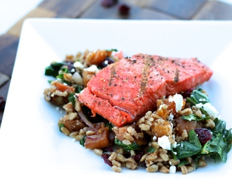 Roasted Butternut Squash & Farro Winter Salad