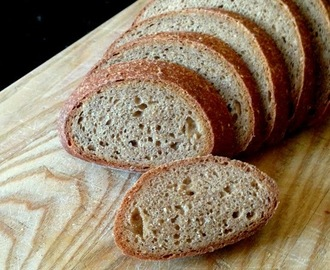 Whole Grain, No-Knead Sourdough Bread #SundaySupper