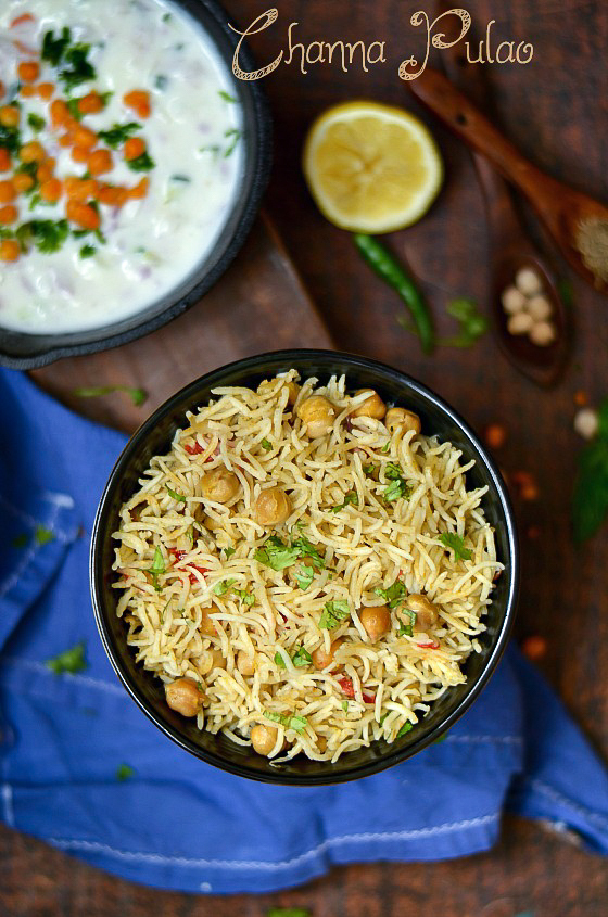 Channa Pulao /Chickpeas Pulao - Easy One Pot Channa Pulao