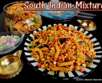 South Indian Mixture - a crunchy perfectly spiced Tea Time Snack! Diwali Special!