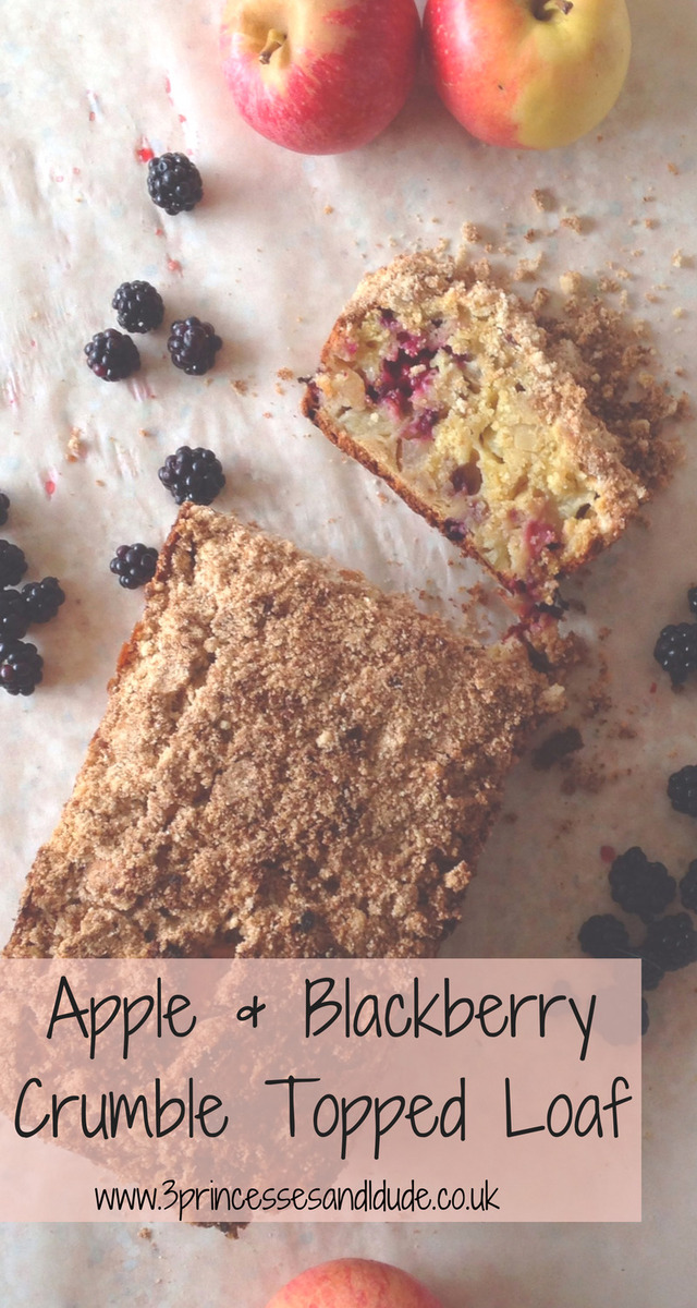 Featured Recipe | Crumble Topped Apple and Blackberry Loaf | Cooking With Kids