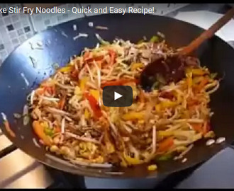 Veg Stir Fry Noodles Recipe Video