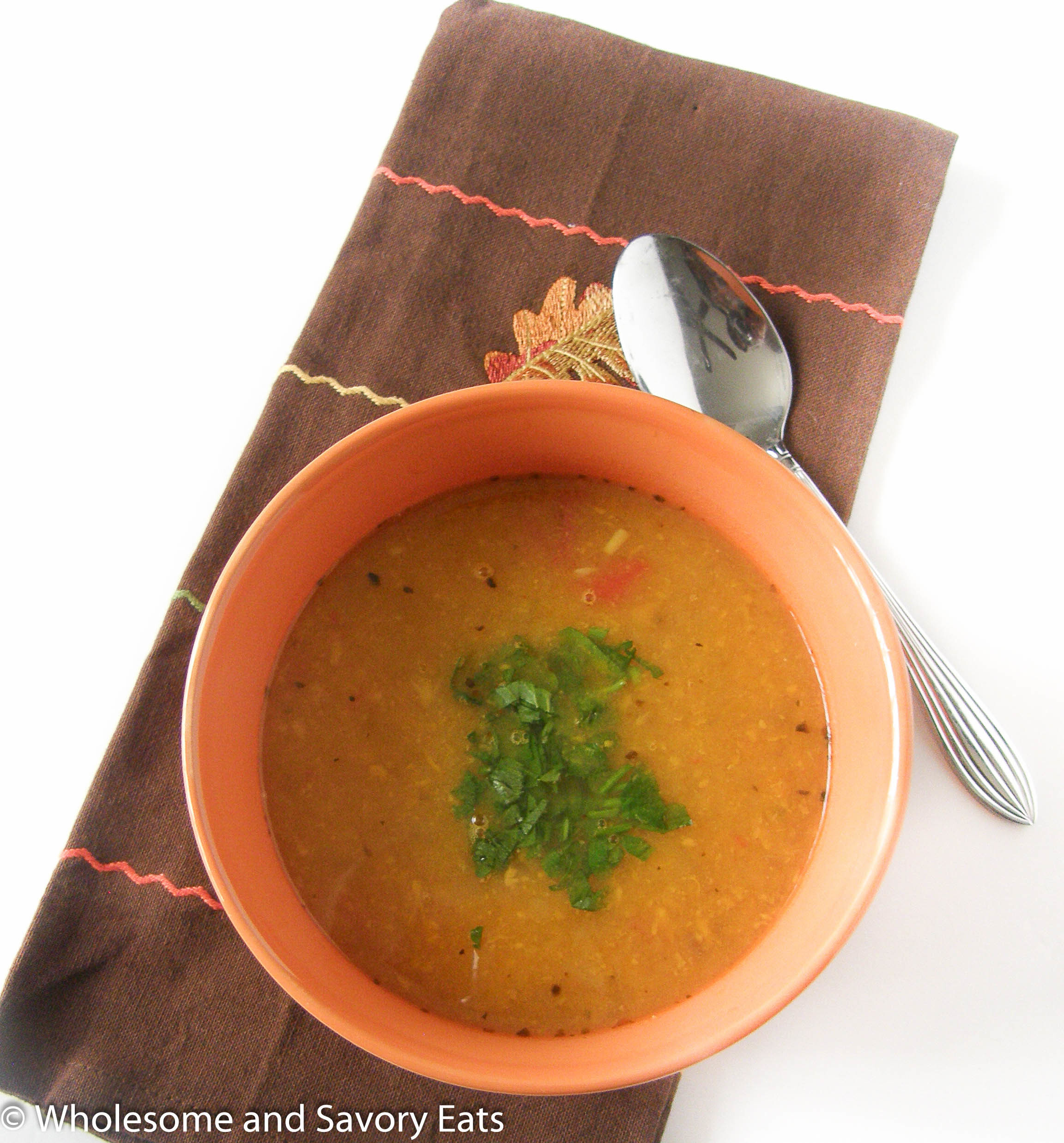 Roasted Butternut Squash, Sweet Potato and Apple soup