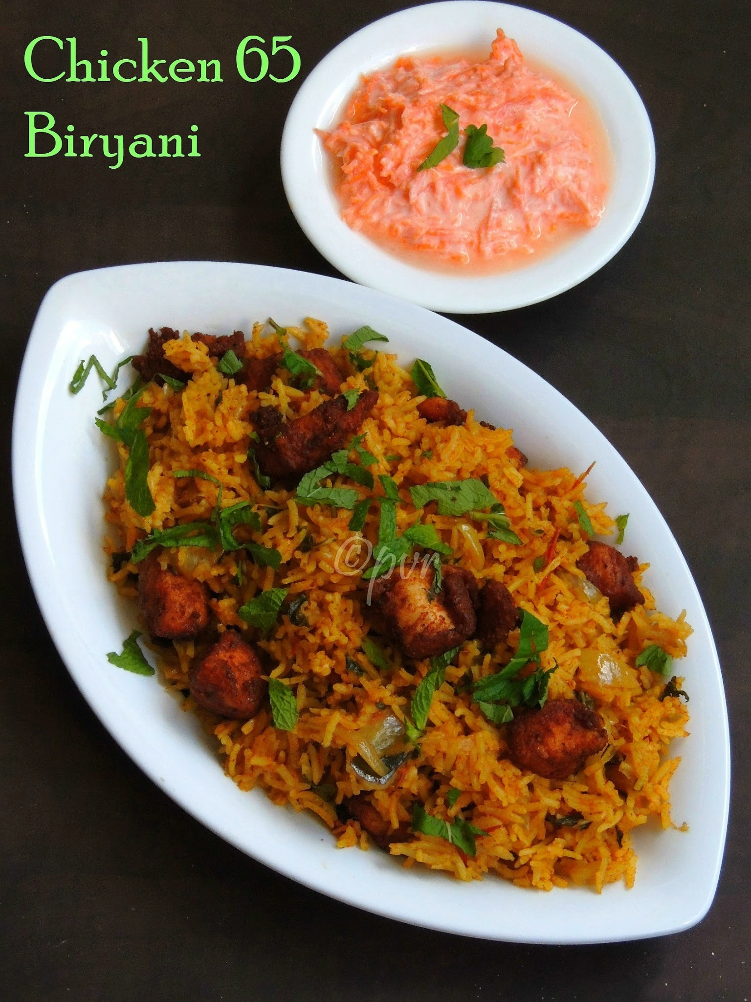 Chicken 65 Biriyani/Chicken 65 Biryani