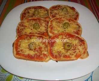 Mini pizza express au pain toast