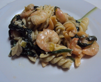 Shrimp and Spinach Pasta