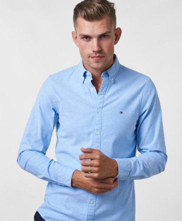 Core Stretch Oxford Shirt 474 Light Blue