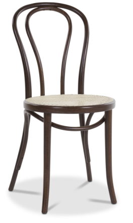 Stol No18 By Michael Thonet rottingsits - Brun