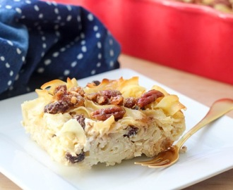 Noodle Kugel with Candied Pecans