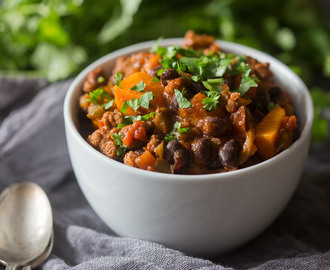 Chorizo Sweet Potato Black Bean Chili