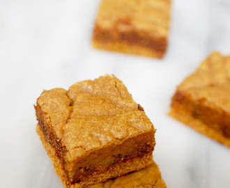 Chocolate and pumpkin spice cookie butter bars