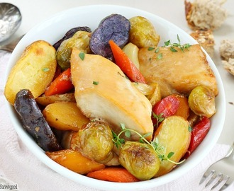 One pan roasted chicken and vegetables recipe