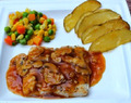 Resep Steak Salmon Saus Jamur