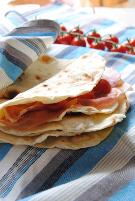 Piadine Romagnole with sourdough starter