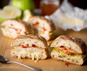 Turkey, Apple & Cheese Panini with Hot Pepper Jelly
