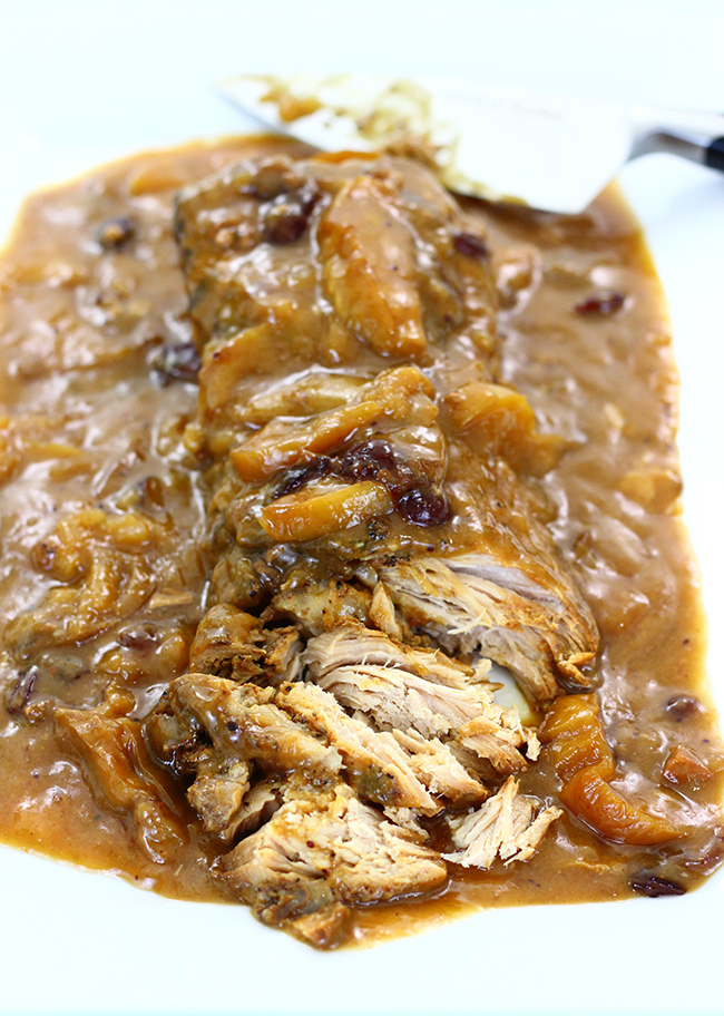 Cranberry Apple Slow Cooker Pork
