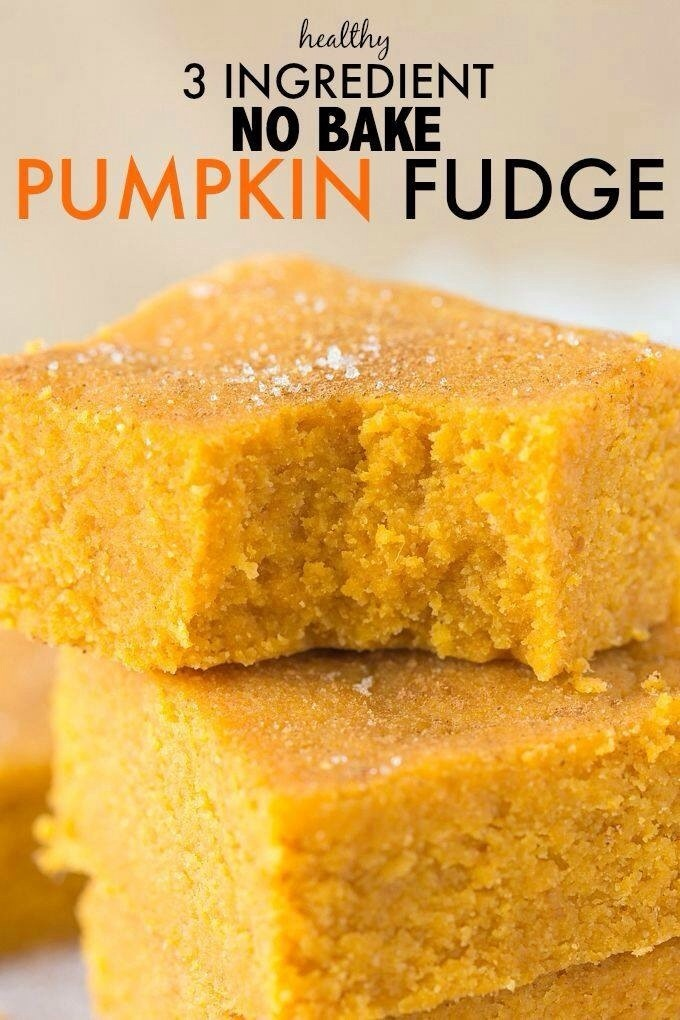 No Bake Healthy Pumpkin Fudge