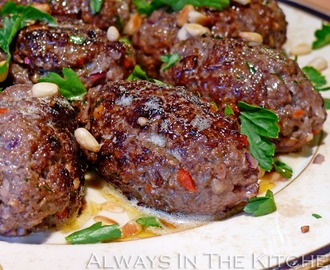 Kofta B'siniyah - Beef & Lamb Meatballs with Pine Nuts