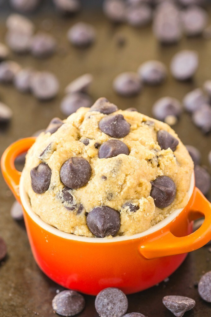 Healthy Classic Cookie Dough For One (Paleo, Vegan, Gluten Free)