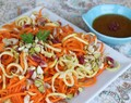 Steamed Lemon Ginger Carrot and Zucchini Noodles