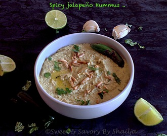 Spicy jalapeño Hummus .. Diabetes Friendly
