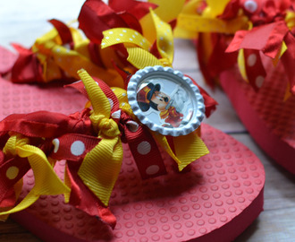 Disney Ribbon Flip Flops