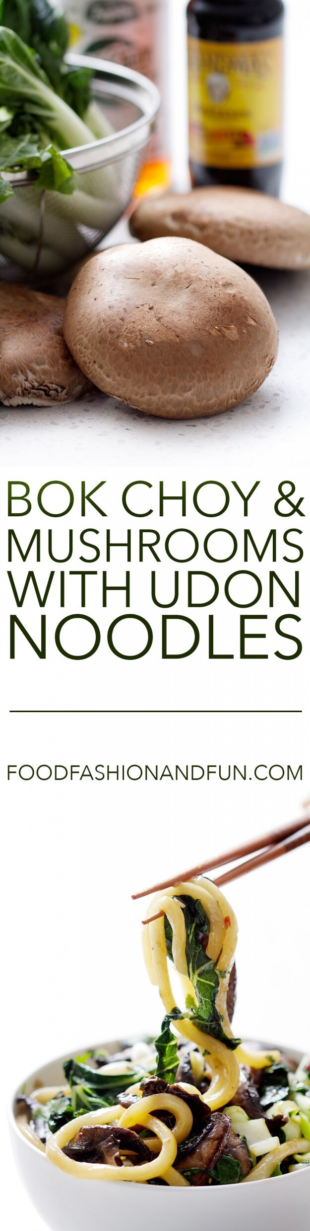 Let's Eat | Bok Choy and Mushrooms with Udon Noodles