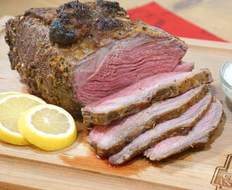 Greek Marinated Sirloin Tip Roast #SundaySupper #RoastPerfect