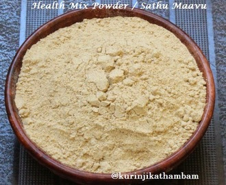 Homemade Health Mix Powder / Sathu Maavu