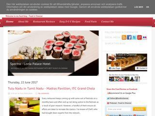 Chennai Food Blog