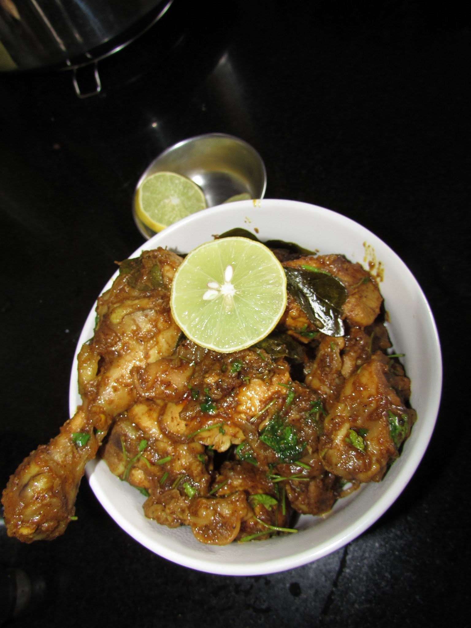 Pepper Chicken (Semi Gravy) | Spicy Pepper chicken gravy
