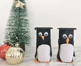 Christmas Crafts for Kids - Penguin (Using Toilet Roll)