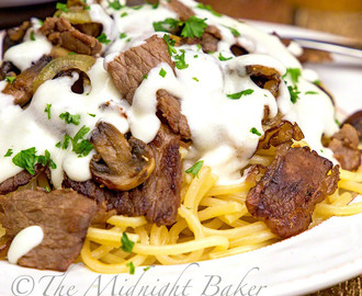Philly Cheese Steak Spaghetti