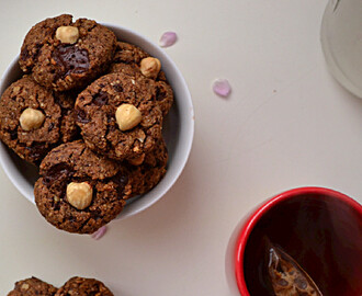 Dark Chocolate & Hazelnut Cookies w/ Buckwheat