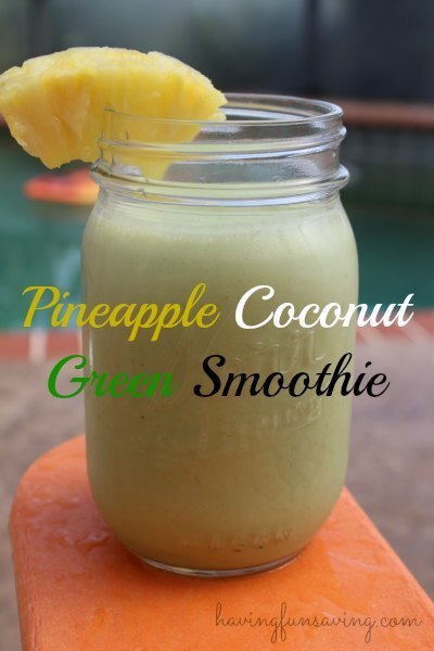 Pineapple Coconut Green Smoothie + PayPal GIVEAWAY