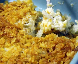 "Grandma's Cheesy ""Old School"" Hash Brown Potato Casserole - 52 ""Old School"" Church Potluck Casserole Side Dishes"