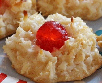 Cherry Topped Coconut Macaroons