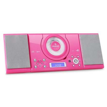 MC-120 stereo MP3-CD-spelare USB rosa