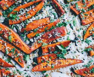 Gochujang Sweet Potato with Cilantro & Sesame