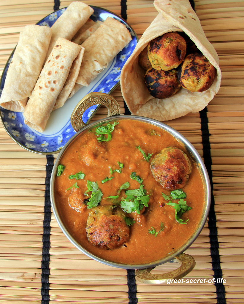 sweet potato kofta curry - Side dish for rice / roti - Healthy side dish recipe