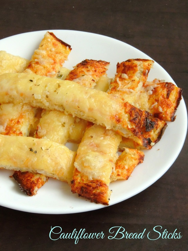 Low-Carb Cauliflower Bread Sticks/Gluten Free Bread Sticks