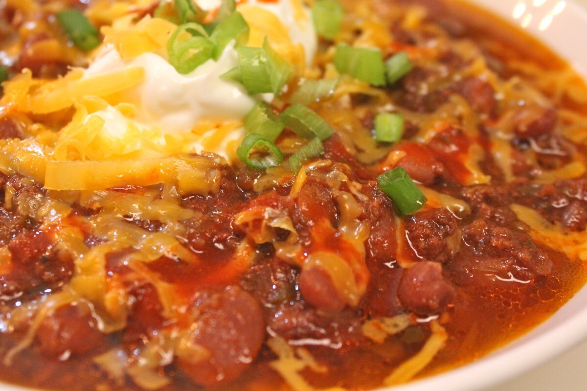 Homemade Beef Chili Made in the Crock-Pot