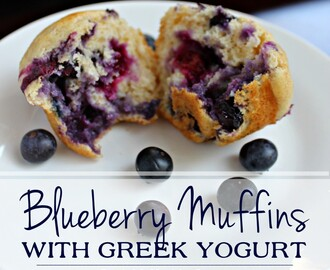Blueberry Muffins with Greek Yogurt