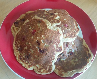 Whole Wheat Cranberry OJ Pancakes