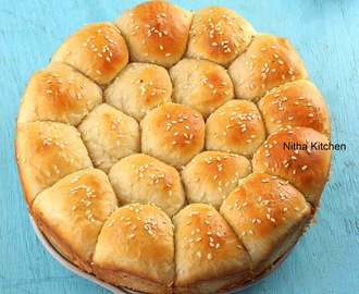 Eggless Honeycomb Buns | Beehive Bread | Khaliat al Nahal Recipe from Scratch