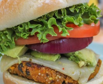 Spicy Butternut Squash & Black Bean Burger