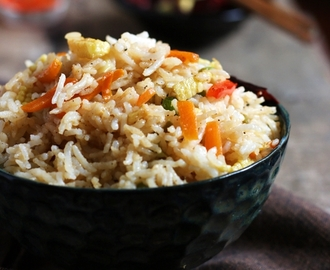 Singapore fried rice recipe (veg)